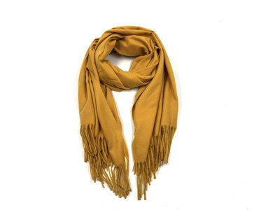 Sjaal Cashmere Touch geel
